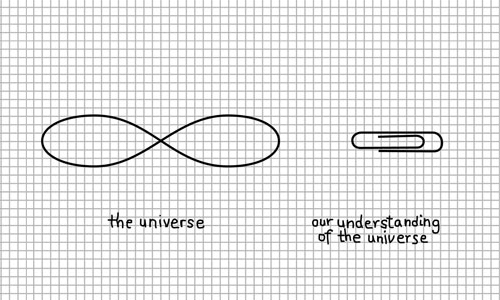 the universe vs. our understanding of the universe